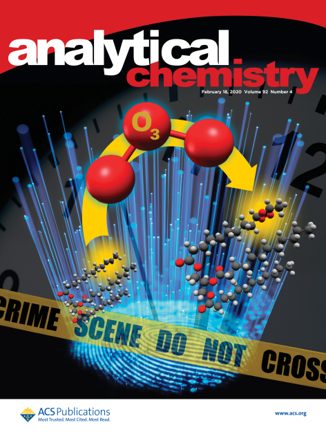 Supplementary cover of the journal Analytical Chemistry featuring the study of fingerprint aging