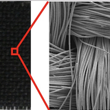 Metal-oxide nanomaterials deposited on carbon cloth