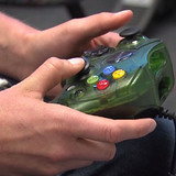 Hands on a video game controller