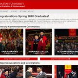 Screenshot of virtual commencement page