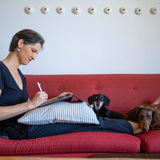 Miriam Martincic working at home
