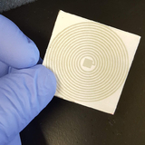An example of a paper, printed sensor being developed by Nigel Reuel and his research group.