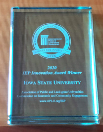 APLU innovation award plaque