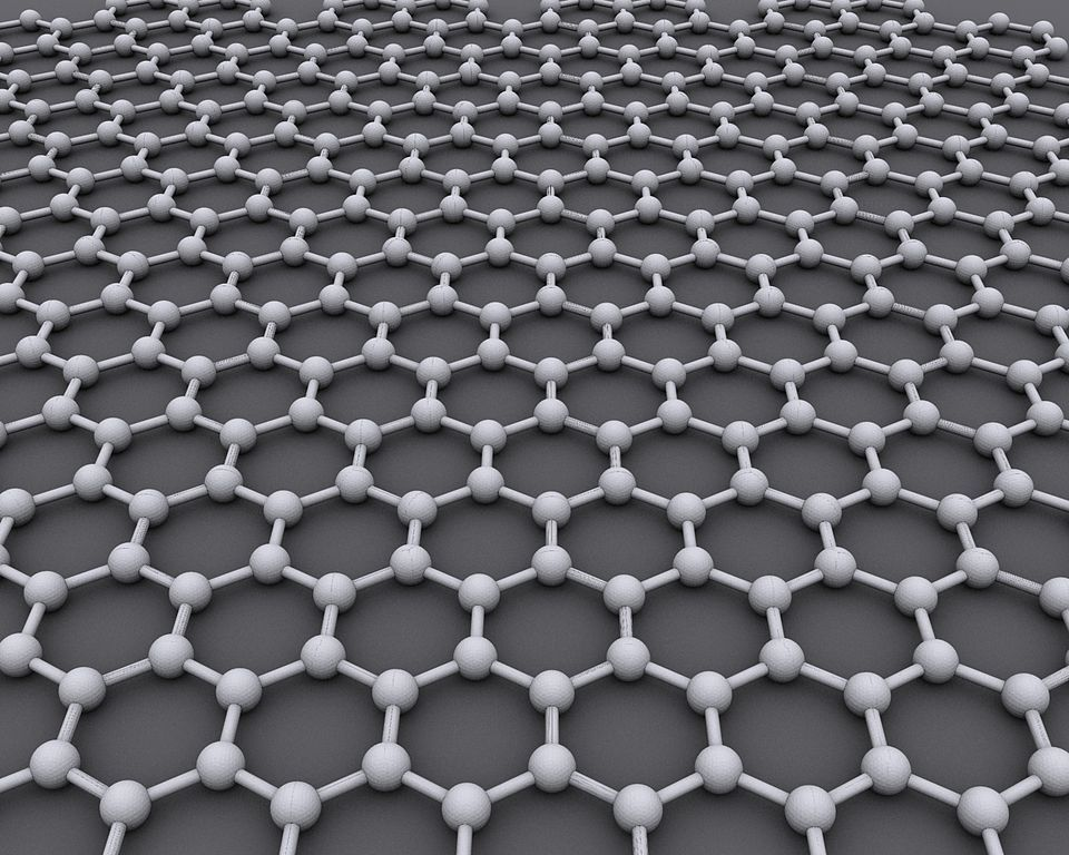 An image of graphene, a quantum material with a lattice structure.